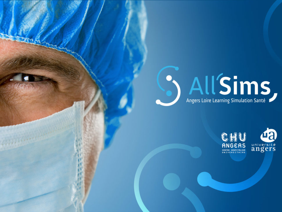 logo All'Sims simulation médicale CHU Angers
